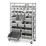 Seville Classics Commercial 7-Tier Platinum/Gray