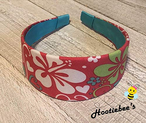Hibiscus and Hearts Headband