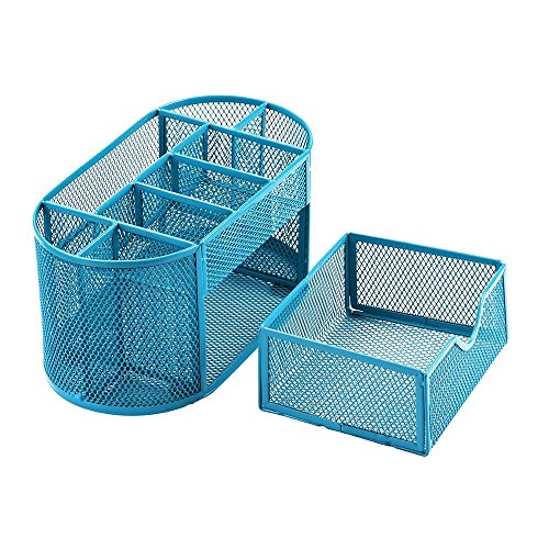 Jeash Storage Box ✿ Multi-Function Pen Pencils Mesh Holder Stationery Container Desk Tidy Organizer for Home School Office Decor (Blue) by Jeash (Image #4)