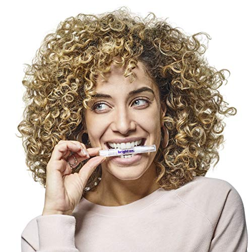 bright on™ Teeth Whitening - 4 Premium Hydrogen Peroxide Whitening Pens with Vanilla Lip Balm, Brighten 3x Faster Than Strips - 6 Month Supply, Mint