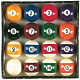 "Viper Billiard Master 2-1/4"" Regulation Size Billiard/Pool Balls, Complete 16 Ball Set"