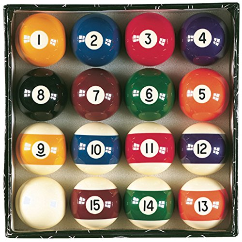 Viper Billiard Master 2-1/4' Regulation Size Billiard/Pool Balls, Complete 16 Ball Set