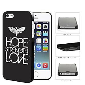Butterfly Hope Strength Love Eroding Hard Plastic Snap On Cell Phone Case Apple iPhone 5 5s