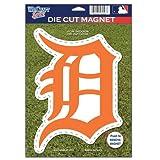 MLB Detroit Tigers 82766010 Die Cut Logo Magnet, Small, Black