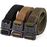 QAZSE Nylon Tactical Belt Quick Release Buckle