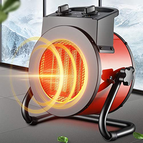 Portable Space Heater 2000W Fan Forced Heater Ceramic Small Heater with Thermostat & Tip Over Protection, for Home, Office, Bedroom