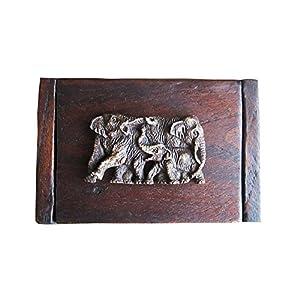Vintage Thai Teak Wood Box with Elephants 100% Handmade, Quality Handmade