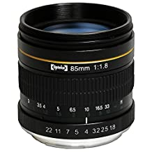 Opteka 85mm f/1.8 Aspherical Medium Telephoto Portrait Lens for Nikon D5, D4, D4S, DF, D810A, D810, D800, D750, D700, D610, D600, D500, D300, D7200, D7100, D5500, D5300, D5200, D5100, D3400, D3300, and D3200 Digital SLR Cameras