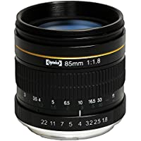 Opteka 85mm f/1.8 Aspherical Telephoto Portrait Lens for Nikon D5, D4S, DF, D4, D810, D800, D750, D610, D600, D500, D7200, D7100, D7000, D5500, D5300, D5200, D5100, D3400 and D3100 Digital SLR Cameras