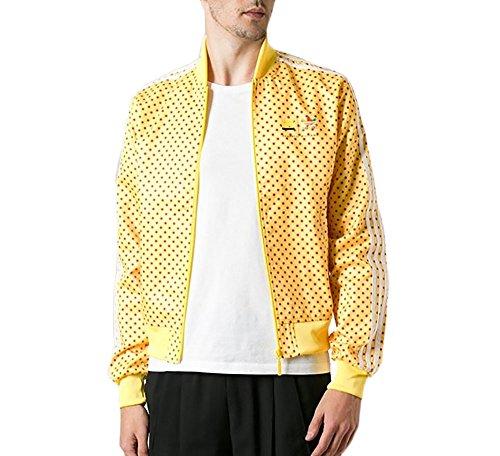 Adidas Originals Men's Pharrell Williams Polka Dot Trank Jacket-Yellow/Red-Small