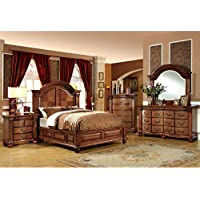 247SHOPATHOME Idf-7738EK-6PC Bedroom-Furniture-Sets, King, Oak