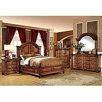 247SHOPATHOME Idf-7738EK-6PC Bedroom-Furniture-Sets, King, Oak