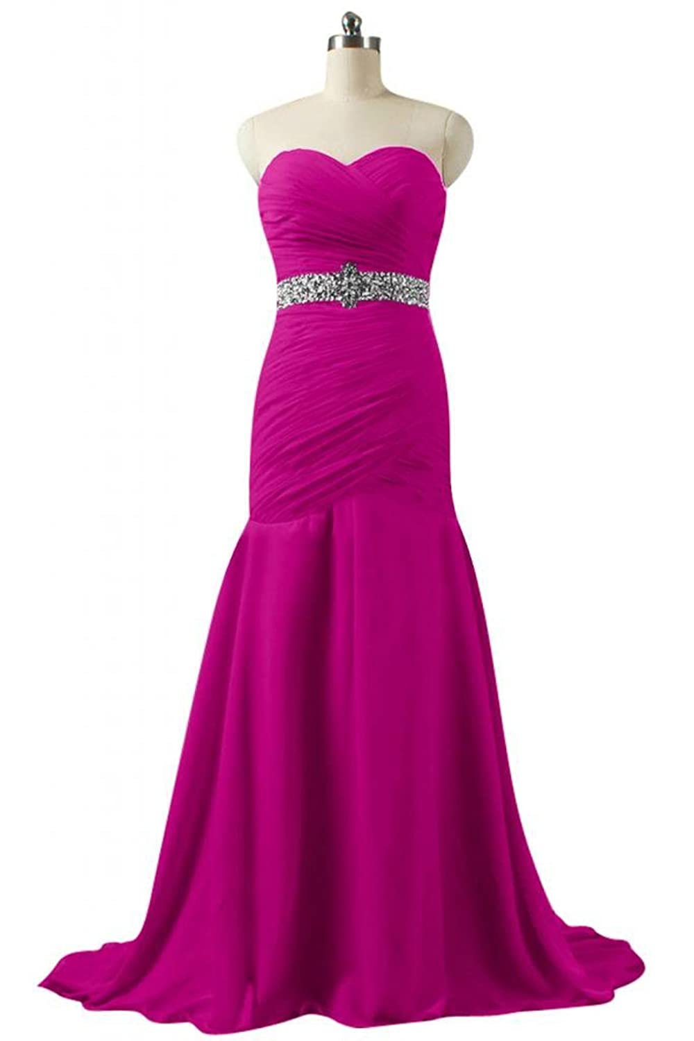 Sunvary Charming Satin Long Mermaid Evening Dress Prom Dress Pageant
