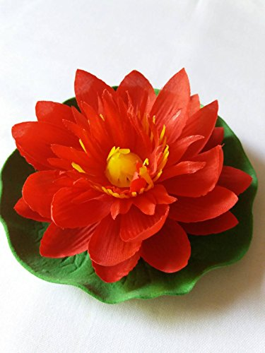 ificial Red Floating Lotus Home Garden Pond (Gold Edelweiss Diamond)