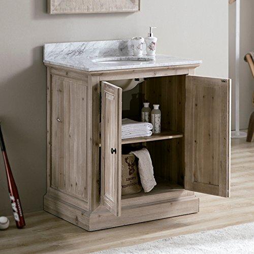 (InFurniture WK1831+CW TOP Bathroom Vanity Driftwood 2 Boxes)