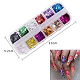 24 Color/Set 3D Butterfly Nail Glitter