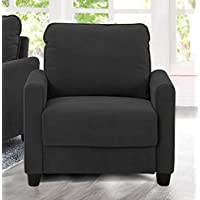 Lifestyle Solutions LK-SCRS1XM3001-W Scottsdale Chair, Black