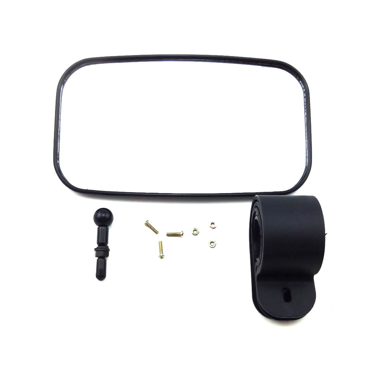 OKSTNO UTV Rear View Mirror for 1.5'' - 2'' Roll Cage with Shatter-Proof Tempered Glass Fits to Polaris Ranger,RZR Can Am Commander,Maverick Yamaha Viking,Rhino,Honda,Gator,Mirrors by OKSTNO (Image #5)