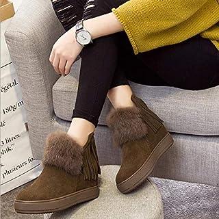 BNXXINGMU Donna Snow Boots Caldi Stivali Moda Fondo Spesso Autunno Stivaletti Calzature Donna Verde 6