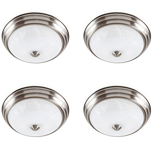 Designers Fountain EVLED502-35D-4 Brushed Nickel LED Flushmount with Alabaster Glass (4 Pack) by Designers Fountain