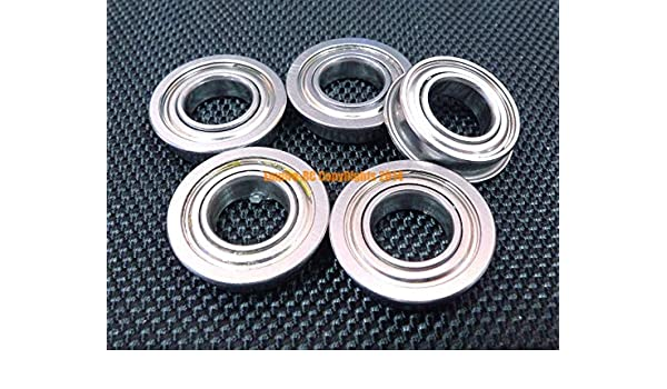 "FR6zz Metal Flanged Ball Bearing Bearings 3//8/"" x 7//8/"" x 9//32/"" 100pcs"