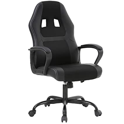 black Chair Pu Leather Lumbar Cheap Ergonomic Executive Computer Pc Desk Support For Bestoffice Office Gaming WomenMen rBodCxe
