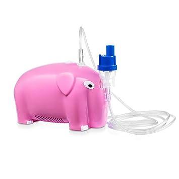 NINI Inhalación Nebulizador Silencioso Compresor De Aire Portátil Profesional Hogar Y Médico Bebé Elefante Forma Azul Y Rosa,Pink: Amazon.es: Deportes y ...
