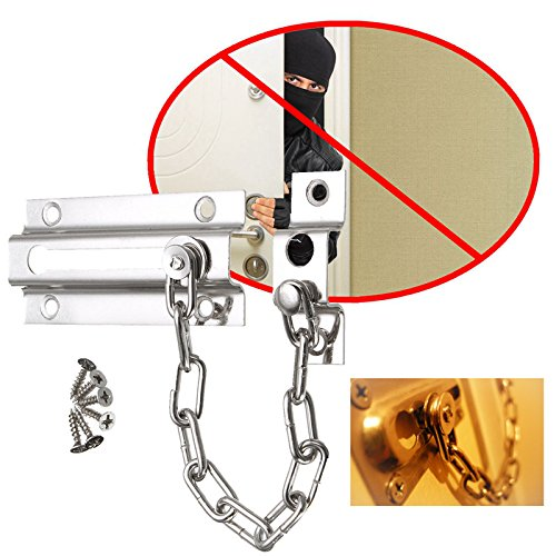 180mm Premium Home Safety Door Security Lock Catch Latch Chain Lock With Screws Home Tools