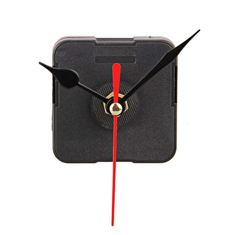 FACILLA® Clock Movement Mechanism with Black Hour Minute Red Second Hand DIY Tools Kit