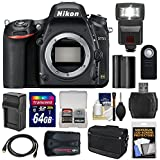Nikon D750 Digital SLR Camera Body with Accessories (13 Items)