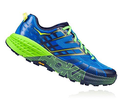 HOKA ONE ONE SPEEDGOAT 2 BLEUE ET VERTE Chaussures de trail