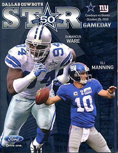 - Dallas Cowboys vs New York Giants STAR Gameday Program October 25, 2010 DeMarcus Ware Eli Manning