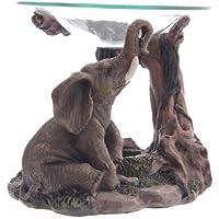 lotusandlime - Quemador de Aceite, Color Gris Elefante