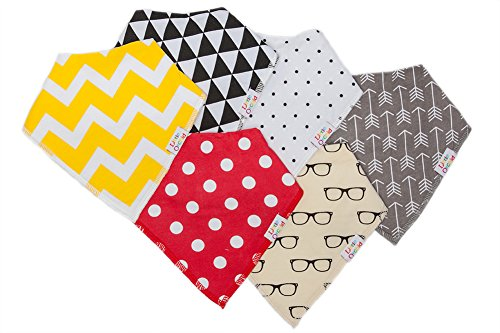 Baby Bandana Drool Bibs Six Pack Gift Set For Teething & Drooling Boys & Girls