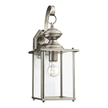 Sea Gull Lighting 8458 965 Jamestowne One Light Outdoor Wall Lantern With Clear Beveled