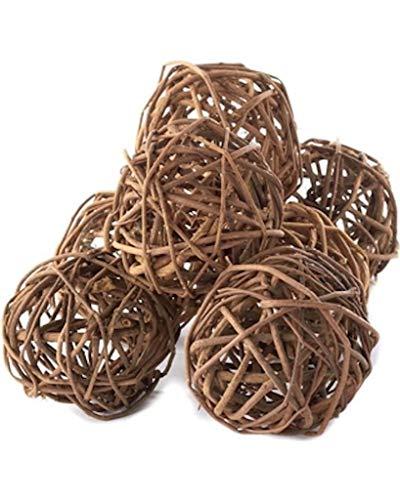 "Darice Grapevine Balls, 7 Pieces, Brown, 3"""