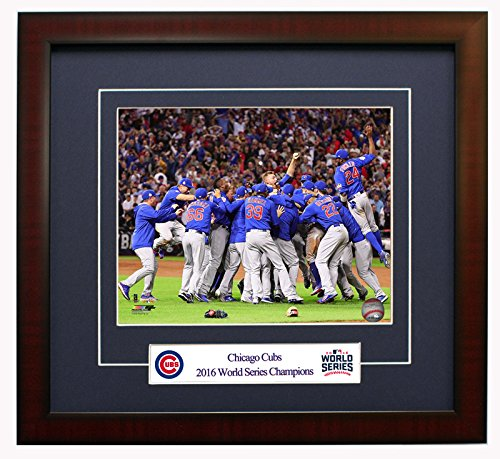 Chicago Cubs - World Series Champions! Framed 8x10 Photo Celebration On The Mound!