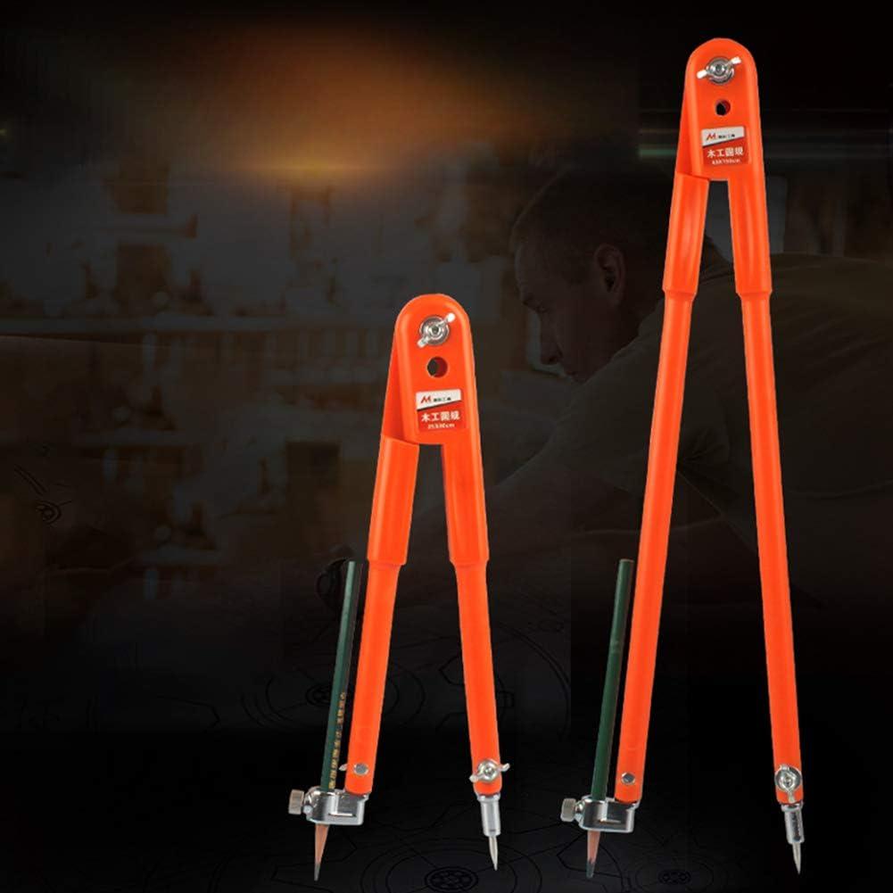 TZOU Carpenter Precision Pencil Compasses Large Diameter Adjustable Dividers Marking for Woodworking Large Compasses