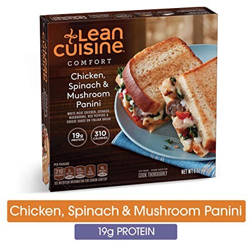 LEAN CUISINE COMFORT Chicken, Spinach & Mushroom Panini 6 oz. Box | Delicious Frozen Meals