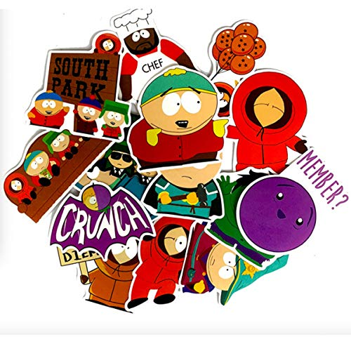 South Park Decal Stickers Car Motorcycle Bicycle Skateboard Laptop Luggage Vinyl Sticker Graffiti Laptop Luggage Decals Bumper Stickers ()