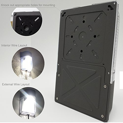 Max Light Led Wall Pack: Cinoton LED Wall Pack Light,26W 3000lm Dusk-to-dawn