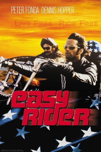 Easy Rider Motorcycle - 24x36 Poster Print Easy Rider - Live Free Ride Free