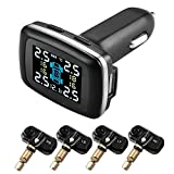 Rrtizan TPMS Tire Pressure Monitoring System Monitor , Wireless LED Display with 4 Internal Sensors. Tire Pressure & Temperature Gauge for Car & SUV