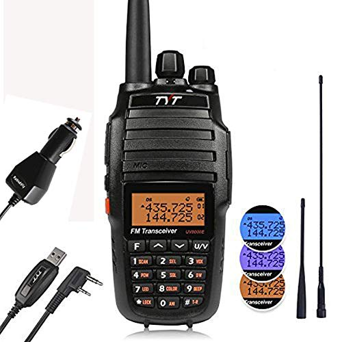 TYT UV8000E 10W High Power Dual Band VHF UHF Two-Way Radio Ham Walkie Talkie with Cross-band Repeater Function & 3600mAh Battery Transceiver, with Car Charger, 2 Antennas, -