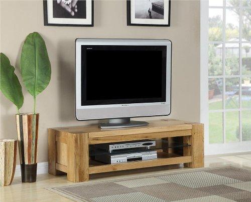 Milton, aus massivem Eichenholz, für Wohnzimmer, plasma tv Schrank Möbel