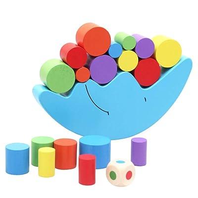 Starmood Luna Equilibrio Juego de Madera Apilables Bloques Juego de Equilibrio Variedad Juguete para Niños: Hogar