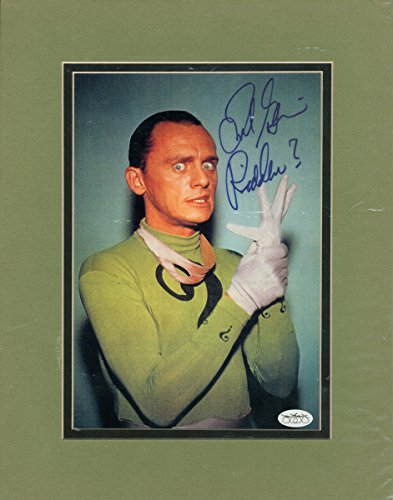 FRANK GORSHIN SIGNED THE RIDDLER ? 11x14 MATTED