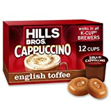k cup coffee toffee - Hills Bros English Toffee Cappuccino Keurig K-Cups, 12 Count