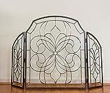 Bevel Clear Glass Folding Fireplace Screen Hand Made 52'' x 34'' !