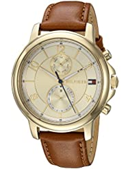Tommy Hilfiger Womens SOPHISTICATED SPORT Quartz Gold-Tone and Leather Casual Watch, Color:Brown (Model: 1781818)